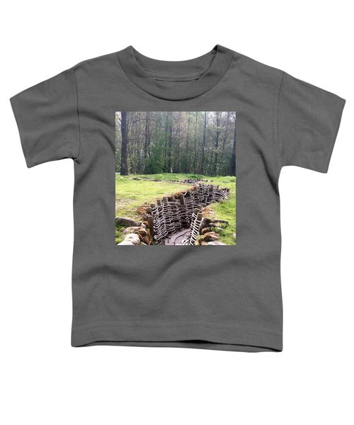 Toddler T-Shirt featuring the photograph World War One Trenches by Travel Pics