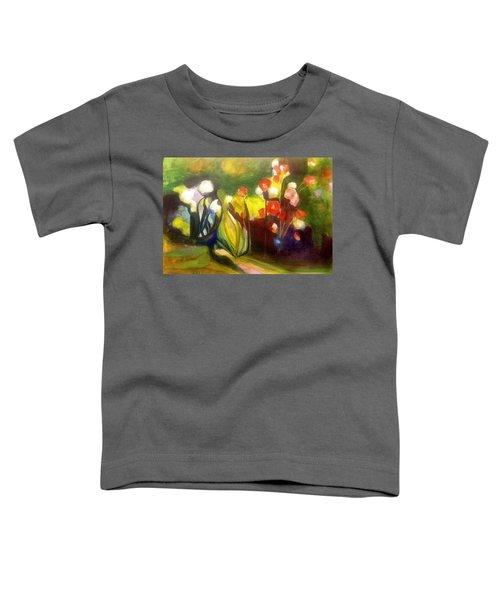 Warm Flowers In A Cool Garden Toddler T-Shirt