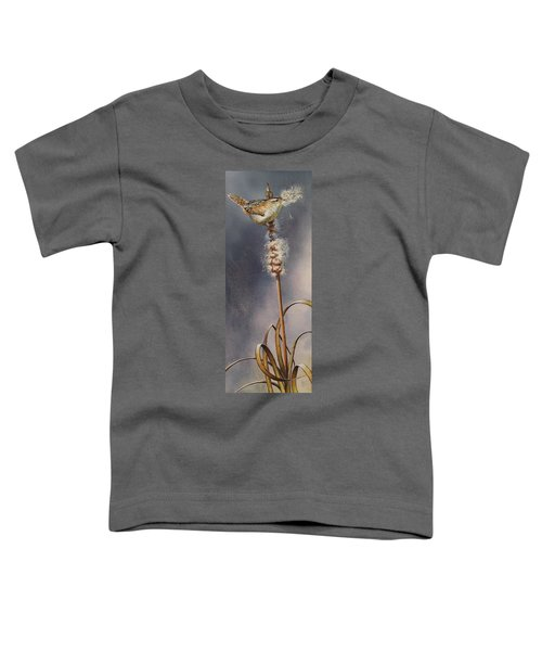 Wren And Cattails Toddler T-Shirt