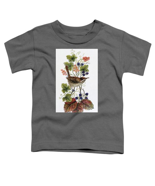 Wren On A Spray Of Berries Toddler T-Shirt