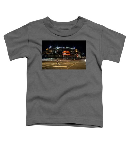 Wrigley Field Marquee At Night Toddler T-Shirt