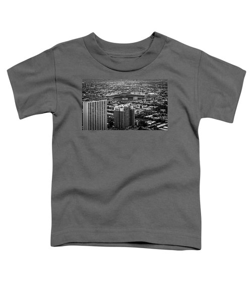Wrigley Field Park Place Towers Day Bw Dsc4575 Toddler T-Shirt by Raymond Kunst
