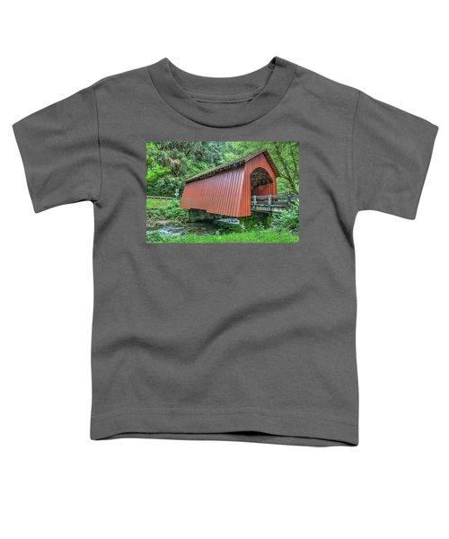 Yachats Covered Bridge Toddler T-Shirt