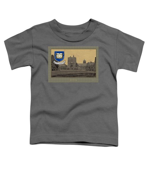 Yale University Building With Crest Toddler T-Shirt