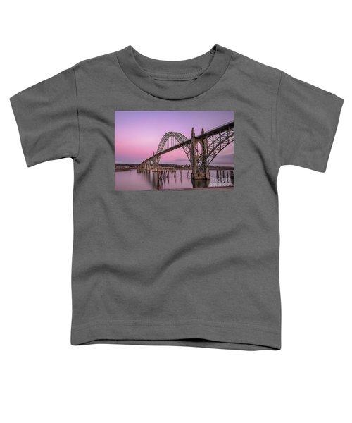 Yaquina Bay Bridge In Blue Light Toddler T-Shirt