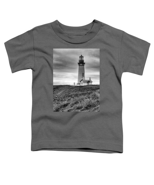 Yaquina Head Lighthouse - Monochrome Toddler T-Shirt
