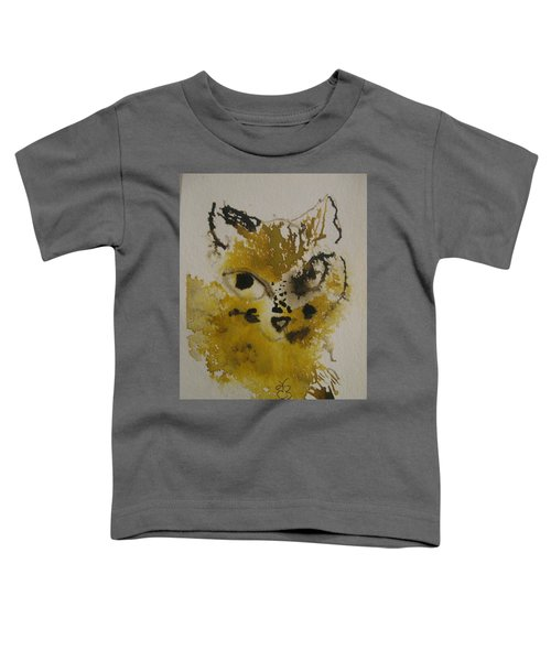 Yellow And Brown Cat Toddler T-Shirt