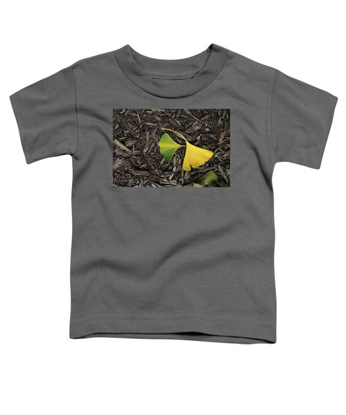 Yellow And Green Gingko Toddler T-Shirt