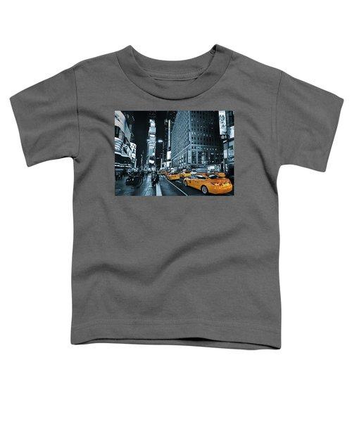 Yellow Broadway At Night - Nyc Toddler T-Shirt