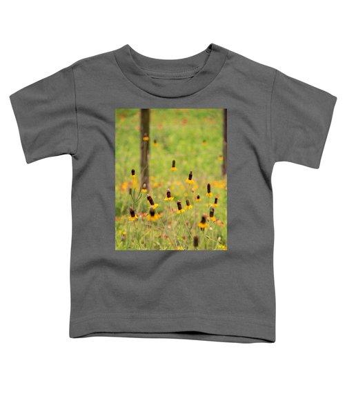 Yellow Cone Flower Toddler T-Shirt