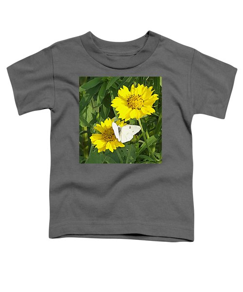 Yellow Cow Pen Daisies Toddler T-Shirt
