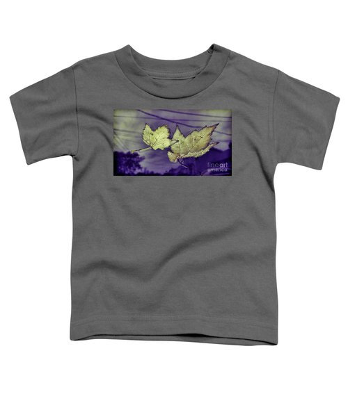 Yellow Leaves On  Windshield Toddler T-Shirt