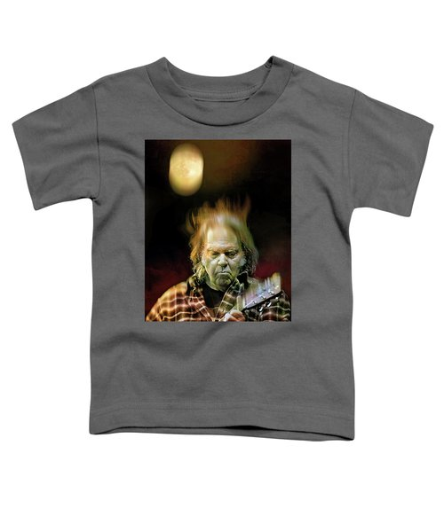 Yellow Moon On The Rise Toddler T-Shirt by Mal Bray