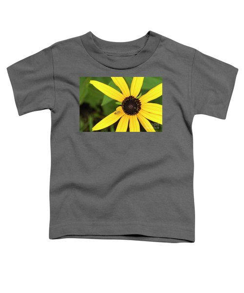 Yellow Petaled Flower With Bug Toddler T-Shirt
