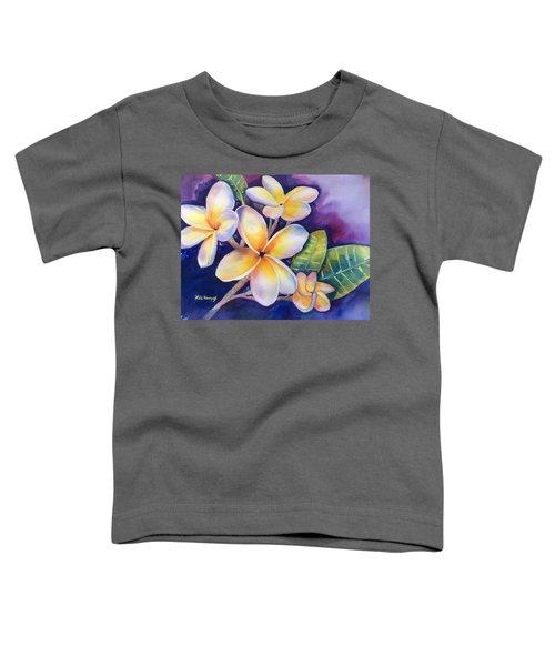 Yellow Plumeria Flowers Toddler T-Shirt