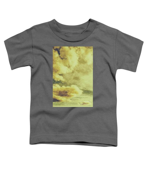 Yellow Toned Textured Grungy Cloudscape Toddler T-Shirt
