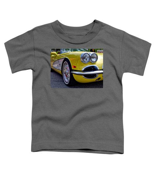 Yellow Vette Toddler T-Shirt
