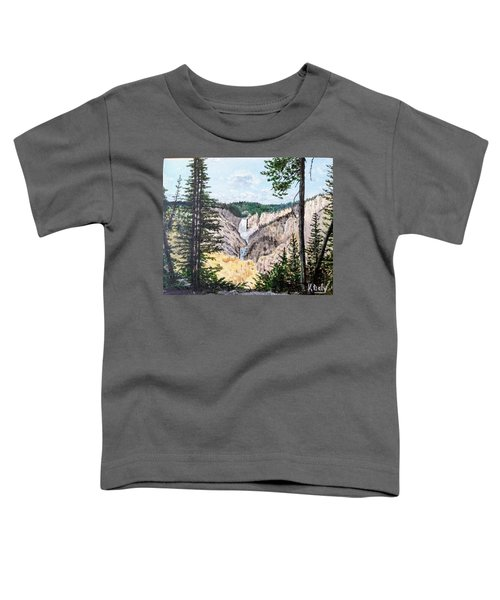 Yellowstone Falls Toddler T-Shirt