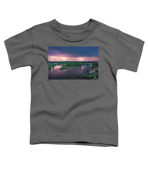 Yellowstone River Lightning Toddler T-Shirt