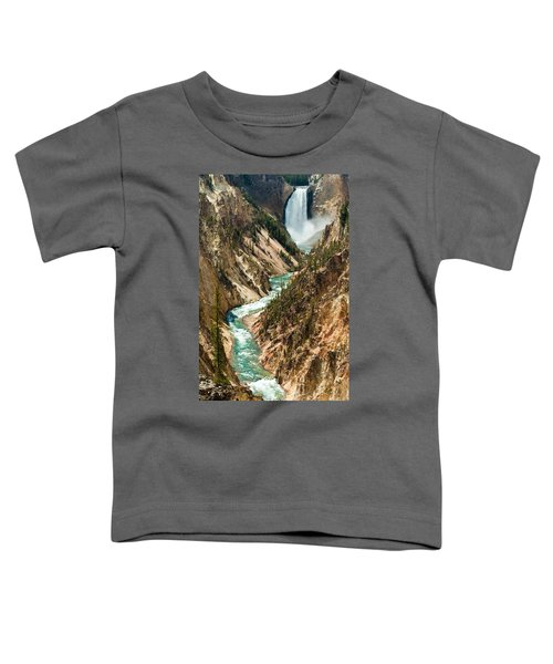 Yellowstone Waterfalls Toddler T-Shirt