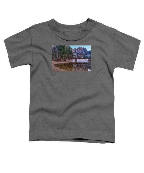 Yosemite Falls At The Swinging Bridge Toddler T-Shirt