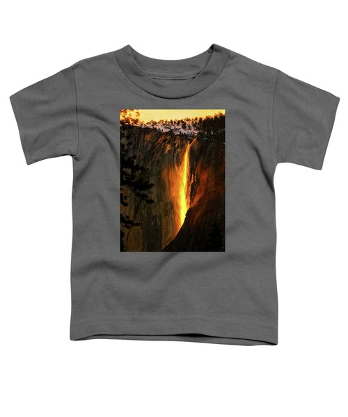 Toddler T-Shirt featuring the photograph Yosemite Firefall by Greg Norrell