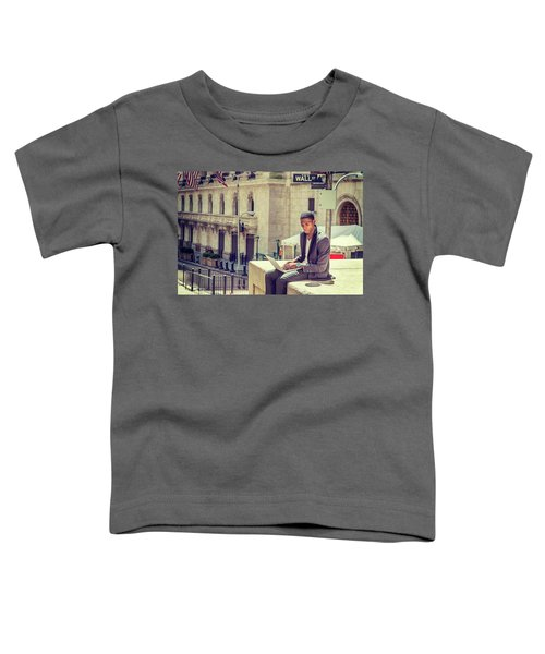 Young African American Man Working On Wall Street In New York Toddler T-Shirt
