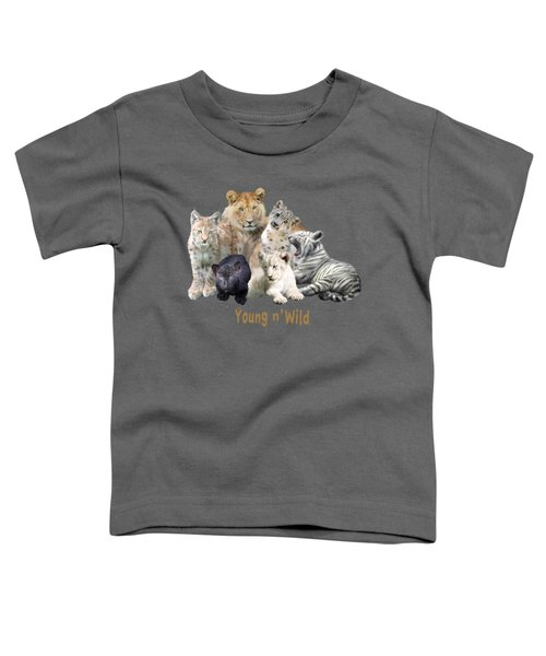 Young And Wild Toddler T-Shirt by Carol Cavalaris