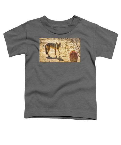 Young Coyote And Cactus Toddler T-Shirt