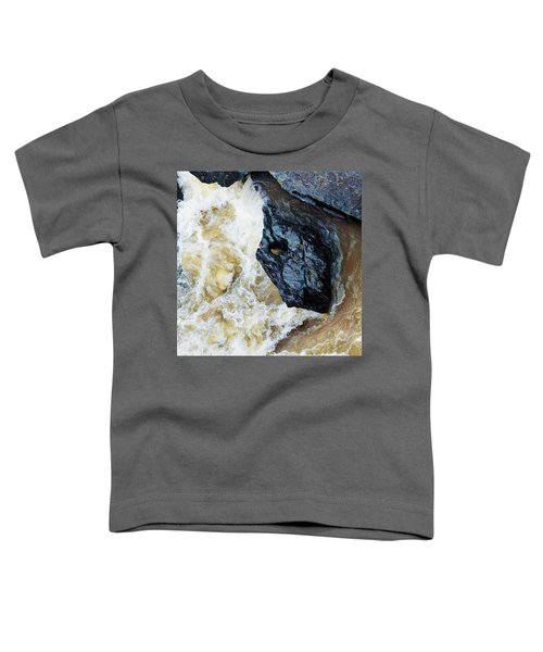 Yuba Blue Boulder In Stormy Waters Toddler T-Shirt