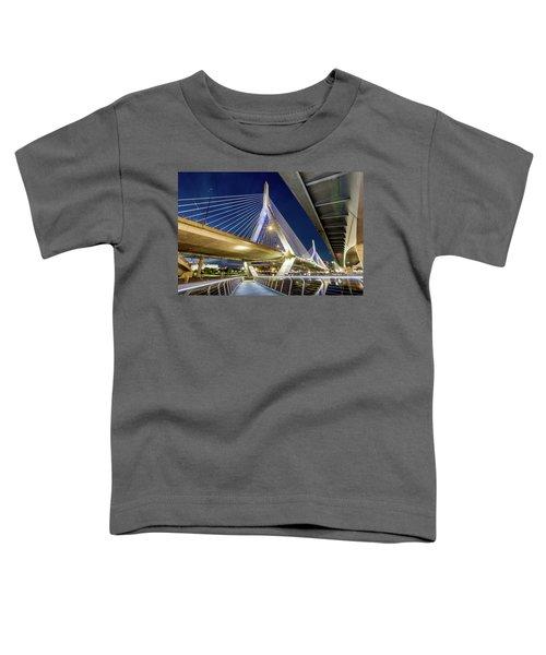 Zakim Bridge From Bridge Under Another Bridge Toddler T-Shirt