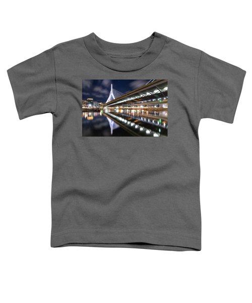 Zakim Bridge From Paul Revere Park Toddler T-Shirt