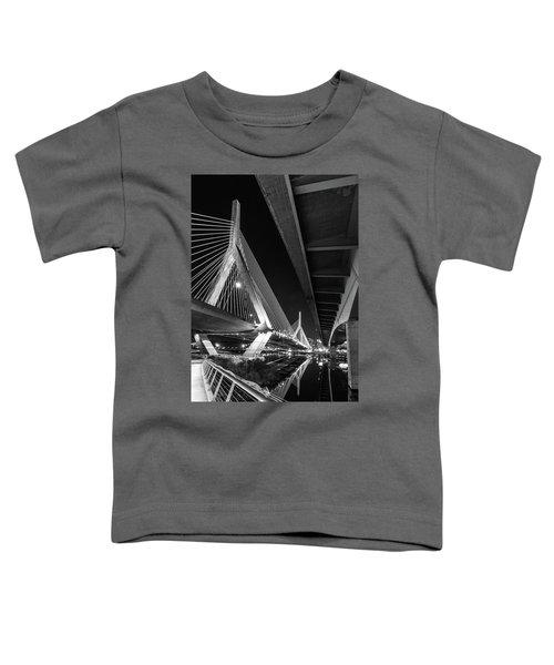 Zakim Bridge From Under The Leverett Connector Bridge Toddler T-Shirt