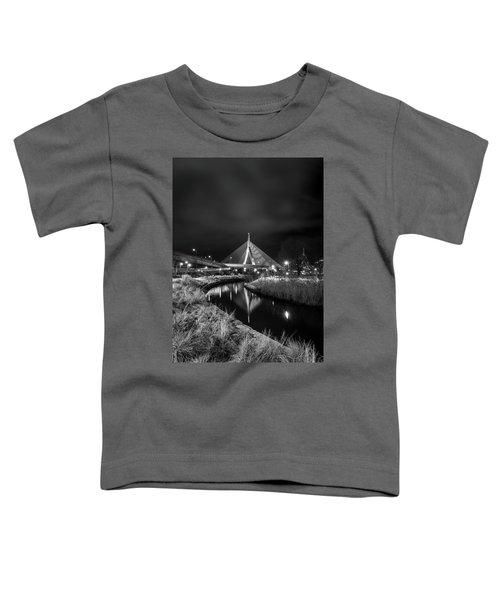 Zakim Bridge Reflecting Under A Moody Sky Toddler T-Shirt