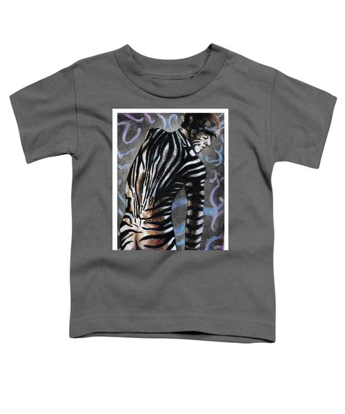 Zebra Boy At Dawn Toddler T-Shirt