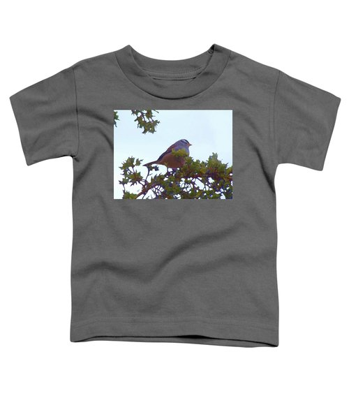 White Crowned Sparrow In Cedar Toddler T-Shirt