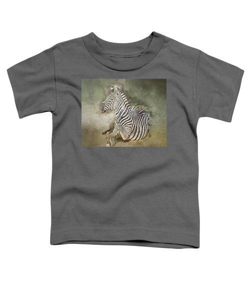 Zebra Watercolor Toddler T-Shirt
