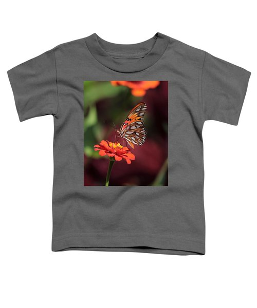 Zinnia With Butterfly 2668 Toddler T-Shirt