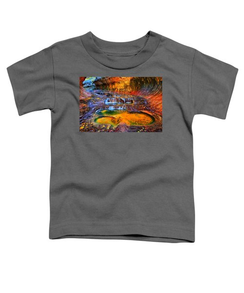 Toddler T-Shirt featuring the photograph Zion Subway Falls by Greg Norrell