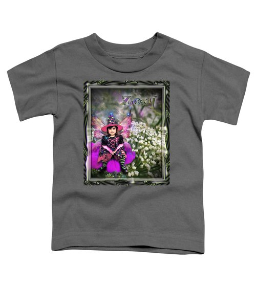 Toddler T-Shirt featuring the digital art Zoey by Susan Kinney
