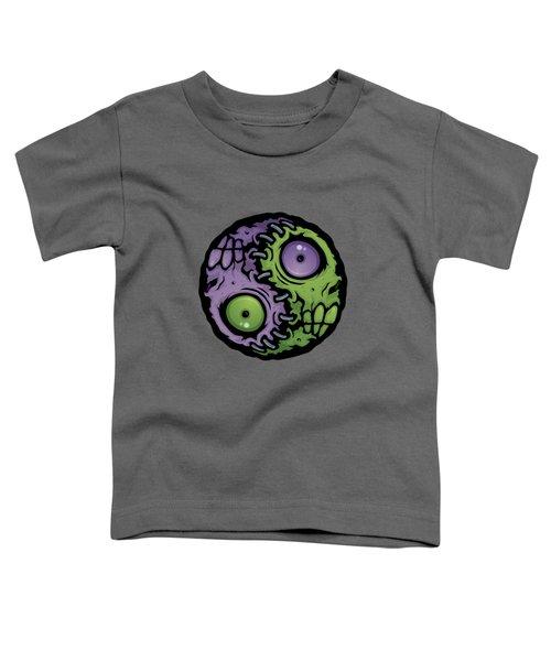 Zombie Yin-yang Toddler T-Shirt