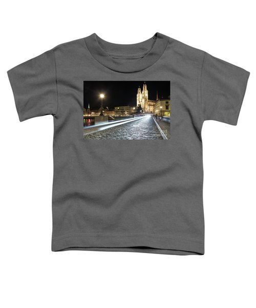 Zurich Night Rush In Old Town Toddler T-Shirt