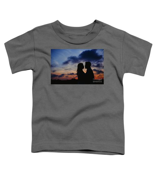 Couple With Cloud Sky Backlight Toddler T-Shirt