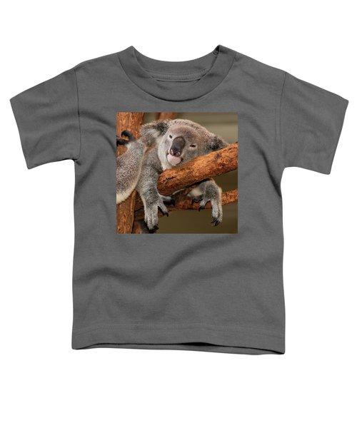 Cute Australian Koala Resting During The Day. Toddler T-Shirt