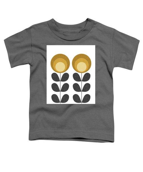 Mid Century Modern Yellow Flowers  Toddler T-Shirt