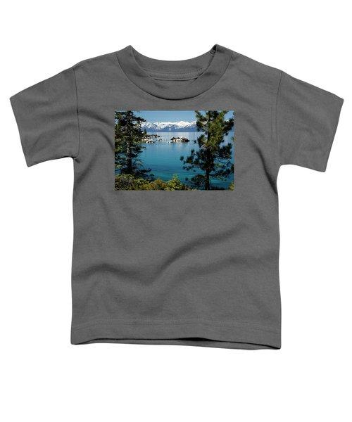 Rocks In A Lake With Mountain Range Toddler T-Shirt