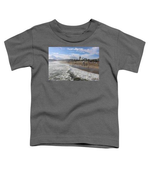 Santa Monica Beach, Santa Monica, California Toddler T-Shirt