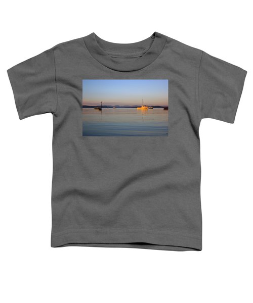 10/11/13 Morecambe. Fishing Boats Moored In The Bay. Toddler T-Shirt
