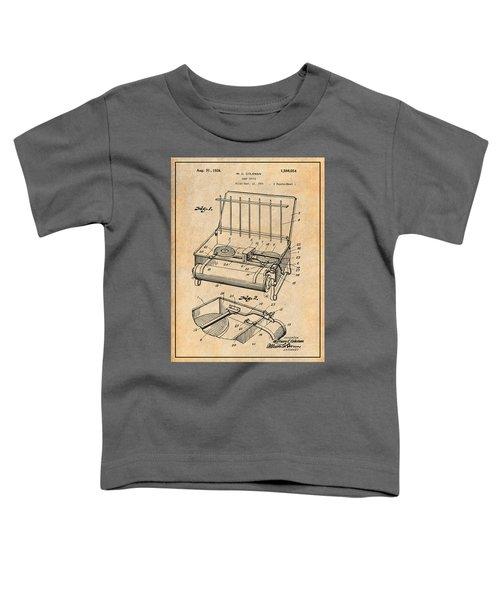 1924 Coleman Camp Stove Antique Paper Patent Print Toddler T-Shirt