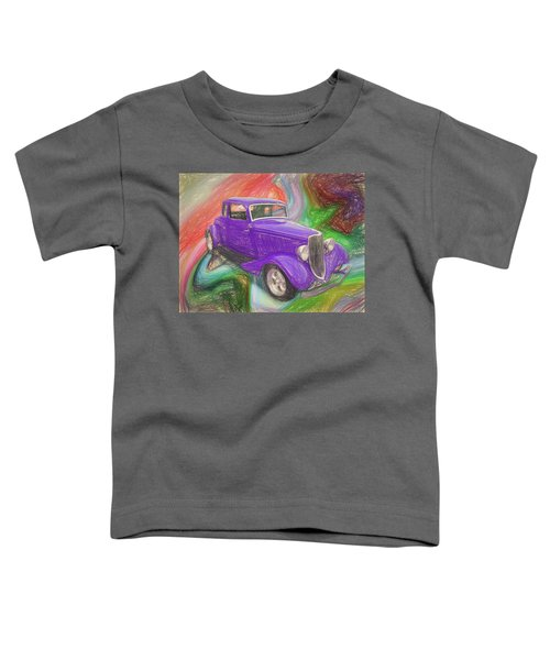 1934 Ford Colored Pencil Toddler T-Shirt